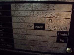 MTU-MB 837 Ea _ 500-Kupedo